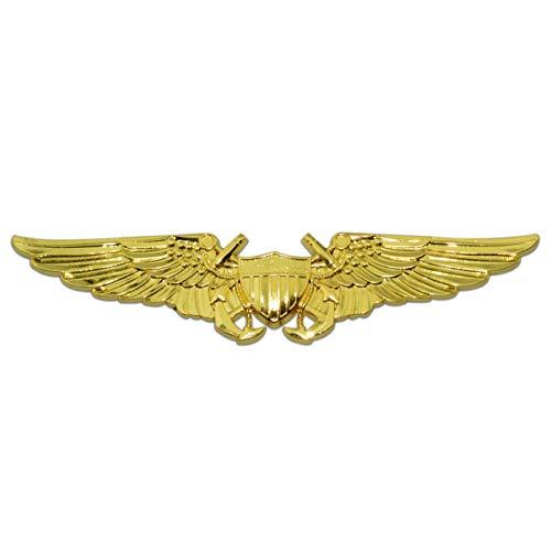 NFO - Naval Flight Officer Wings Gold Metal Auto Emblem ()