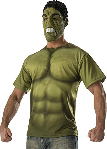 Rubie's Costume Co Men's Avengers 2 Age Of Ultron Adult Hulk T-Shirt and Mask, Green, Large]()