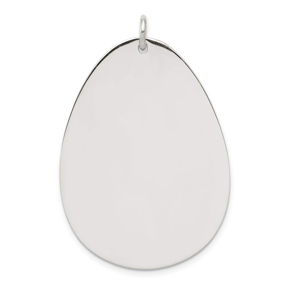 Mia Diamonds 925 Sterling Silver Solid Engraveable Polished Front ...