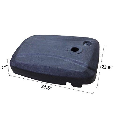 California Patio Cantilever Market Umbrella Water Base - 150 lb. | pound | 70L California Cantilever Umbrella