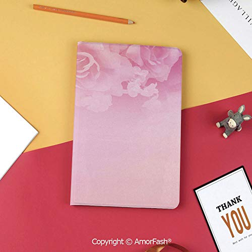 Case for Samsung Tab S3 9.7 SM-T820 SM-T825 Tablet Case Protective Cover Crystal Case,Light Pink,Rose Petals in Soft Pastel Tones Romantic Bridal Floral Valentines Graphic Artwork Decorative,Coral