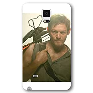UniqueBox - Customized White Frosted Samsung Galaxy Note 4 Case, The Walking Dead Daryl Dixon Samsung Note 4 case, Only fit Samsung Galaxy Note 4