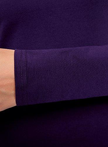 Oodji Moulante Robe En Ultra Femme Violet8800n Maille XZPkOui