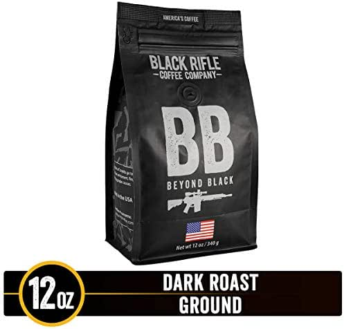Beyond Black Dark Roast Ground Coffee by Black Rifle Coffee Company | 12 oz Bag of Premium Gourmet Specialty Coffee | Perfect Coffee Lovers Gift