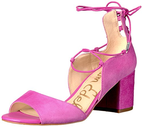 Sam Edelman Women's Serene Dress Sandal, Hot Pink Suede, 8.5 M US