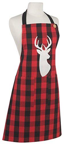 (Now Designs 2026003 Apron, Buffalo Check Deer)