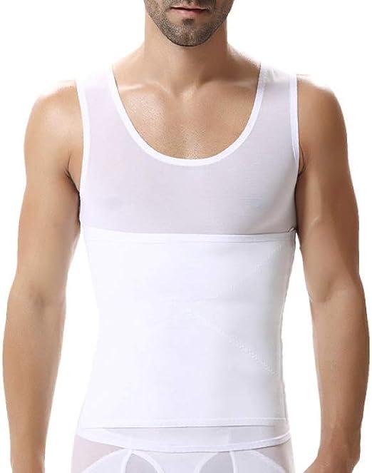 Hombres Body Shaper Chaleco Adelgazante Camisa de compresión ...