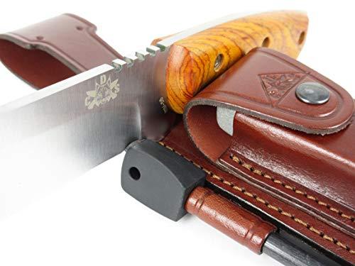 CELTIBERO - Couteau de Camping Randonnée Chasse Outdoor Survie Bushcraft Multifonctionnel, Manche en bois de Cocobolo… 3
