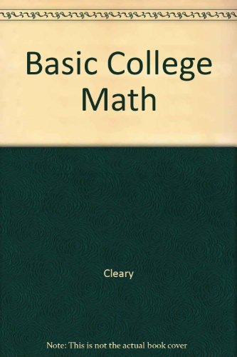 Basic College Math a Problem Solving Approach