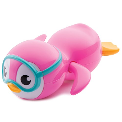 Munchkin Wind Up Swimming Penguin Bath Toy, Pink (Penguin Toys)