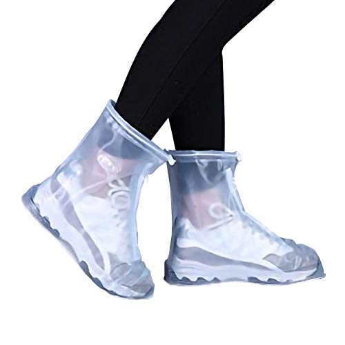 es Transparent Waterproof Snow Men Women Rain Boots for Kids/Adult Shoes ()