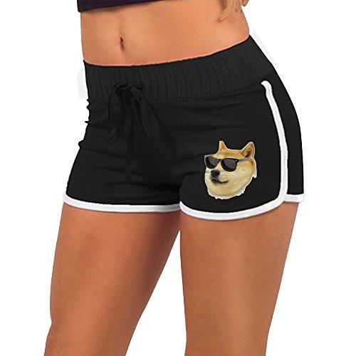 許す調整する爆発サーフパンツ 柴犬 女の子 ヨガ 体型カバー ファッション フィットネスパンツ 通勤 スイムショーツ 海パン メッシュインナー付き Black