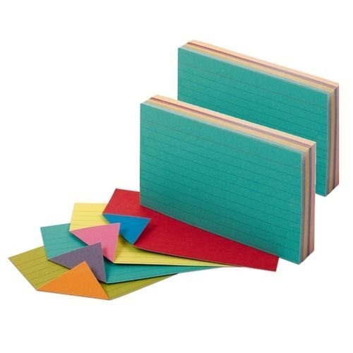 5 Assorted Colours - Oxford Extreme Index Cards, 3 x 5 Inches, Assorted Colors (2 Pack)
