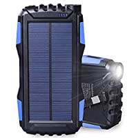 Friengood Solar Charger, Portable 25000m...