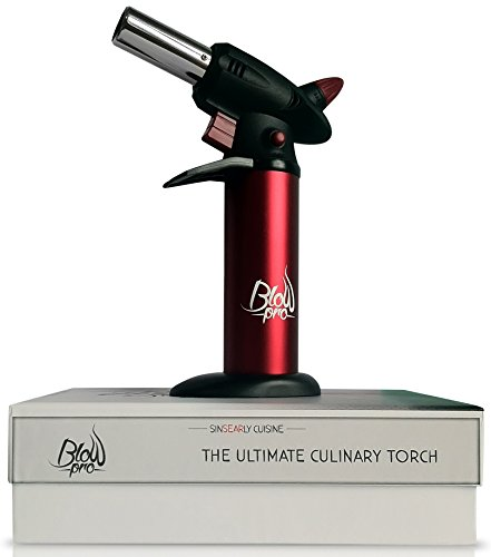 Ultimate Culinary Blow Torch, make the best creme brulee Free recipe E-book included with gift packaging & instructions | Hand Held flaming + Stand | Good for baking, soldering, dabbing & wax working.