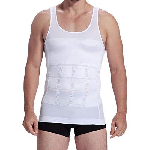 DAVITU 1Pcs Creams Men Waist Trimmer Belt Loss Waist Band Wrap Fat Burning Male Shaper Health Care - (Color: White, Size: L)