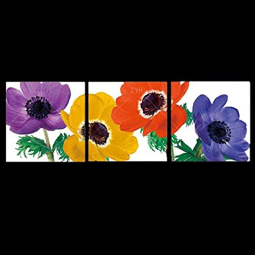 壁掛け アートパネル 【AP006 フラワー 大輪 30×30㎝×3パネルセット】12㎜キャンバス 印刷布製 キャンバスアート 壁飾り B07DR23KJ2 13188 12mmキャンバス|30×30㎝ 30×30㎝ 12mmキャンバス