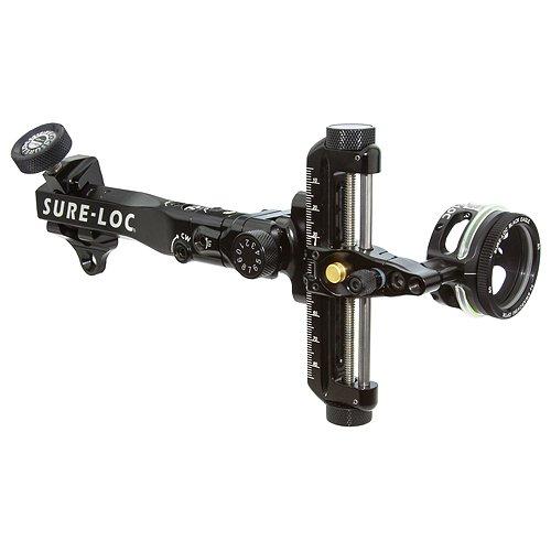Sure-Loc IncoX 400 Target Sight, Left Hand, 6-Inch, Black (Sure Loc Archery Sights)