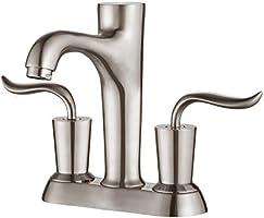 "Kraus FUS-13802BN Coda Centerset 2-Handle Bathroom Faucet, 4"", Brushed Nickel"