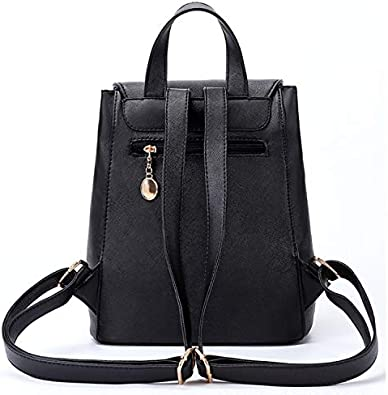 SHXDMY Backpack Fashion Casual Light Rechargeable Large Shoulder Bag Commuter Fashion Square Bag Multi-Function Personal Computer Backpack Briefcase Color : Black