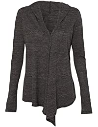 Women's Crystal Draped Shawl Collar Hoody Open Cardigan Sweater