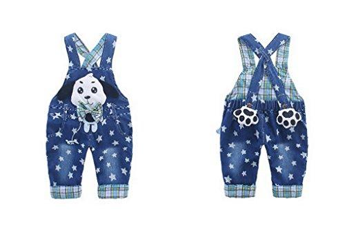 Bleu 2 À Animal Pantalon Acmede Motif Enfant Garçon Combinaison Fille Salopette Mignion Bretelle Jeans Bébé Jumpsuit Jean EwaqxSwp