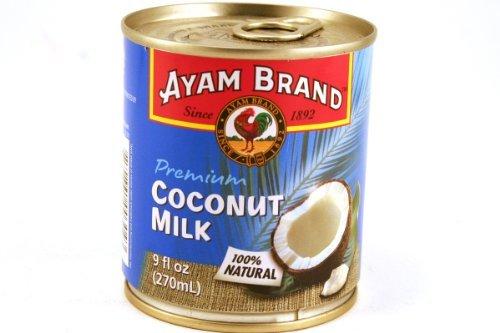 Premium Coconut Milk (100% Natural) 9fl Oz (Pack of 6) by Ayam