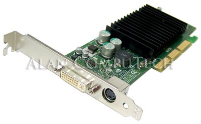 NVIDIA GeForce MX440 64MB DDR AGP DVI Low Profile Video Card w/TV-Out -