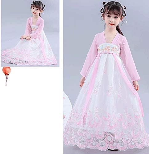 Halloween kostuums voor kinderen Halloween Cosplay Kostuums, Princess Dress En Hanfu Dress Party Kostuums, prestaties kostuums for kinderen (Color : Pink, Grootte : X-Large)