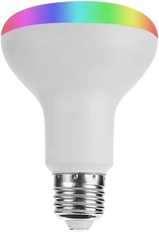 ZWD Smart LED Bulb WiFi Dimmable E26 Multicolor Light Bulb Compatible with Alexa, Echo, Google Home and IFTTT (No Hub Required), 11W RGB+CW Color Changing Bulb,B22RGB+CW