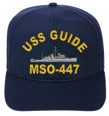 USS GUIDE MSO-447 EMBROIDERED SHIP CAP - Uss Guide