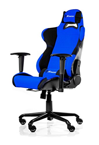 Arozzi Torretta Series Gaming Racing Style Swivel Chair, Blue