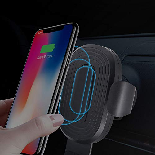 Wireless Car Charger e-Vireles 10W Fast Wireless Charger Car Mount Adjustable Gravity Air Vent Phone Holder for iPhone 11//11 Pro//11 Pro Max//Xs MAX//XS//XR//X//8//8+,Samsung S10//S10+//S9//S9+//S8//S8+