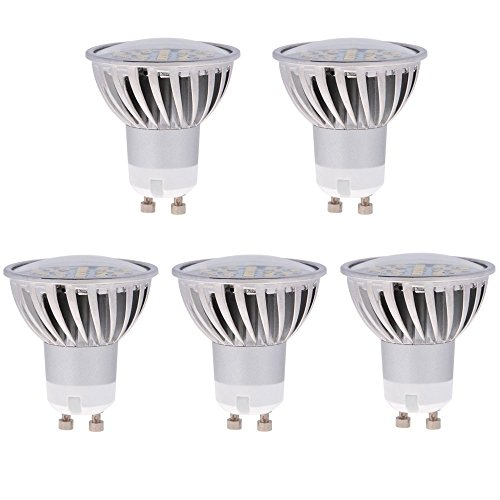 HERO-LED GU10-24S-NW MR16 GU10 LED 120V Halogen Replacement Bulb, 120 Degree Wide Beam Floodlight, 4.8W, 50W Equivalent, Natural White 4000K, 5-Pack(Not Dimmable)