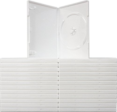 Square Deal Recordings & Supplies - DVBR14WH - DVD/Wii Plastic Replacement Cases - Solid White (25 Cases)