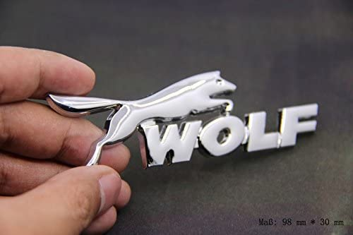 E861 Wolf Emblem Zeichen Badge Auto Abziehbild Aufkleber Car Sticker Metall Chrom Auto