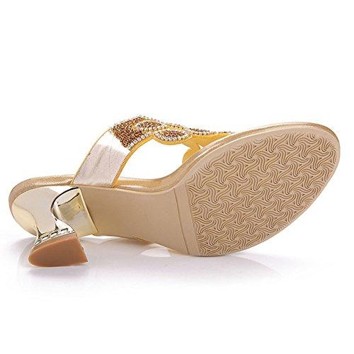sandali diamanti estivi donna Infradito con Pinch estate spessore con pantofole sandali di strass qEF1wxFnCp
