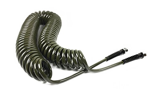 Water Right Professional Coil Garden Hose, Lead Free & Drinking Water Safe, 25-Foot x 3/8-Inch, Olive Green