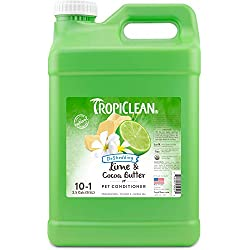 TropiClean Lime and Cocoa Butter Conditioner for Pets, 2.5 gal, Made in USA