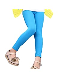 Banner Bonnie Girls' Lycra Cotton Footless Tight Leggings 11 Colors All Seasons 3-12y