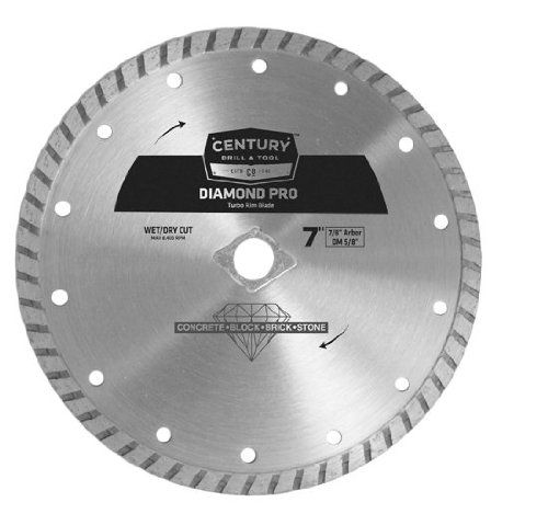 Century Drill and Tool 75452 Professional Turbo Rim Diamond Saw Blade, 7-Inch