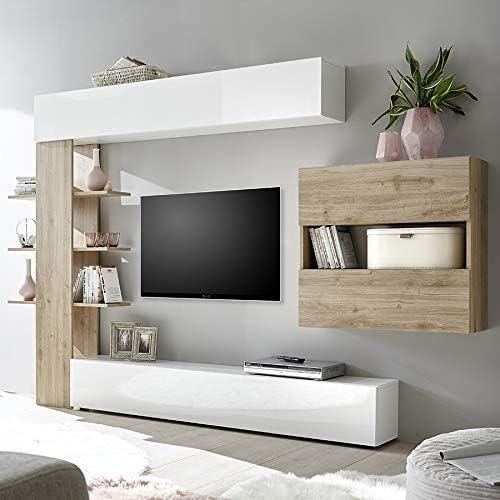 Kasalinea Soprano 3 - Juego de Muebles para TV, Color Blanco y ...