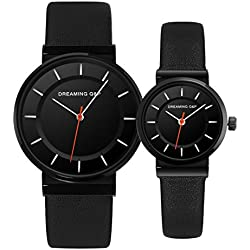6cb74286d97e Valentines  Unisex Black Pair Wrist Watches