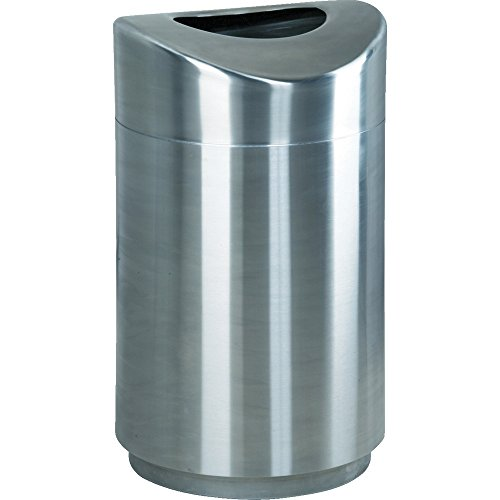 - Rubbermaid Commercial Executive Series Eclipse Open Top Trash Can, Stainless Steel, 30 Gallon, FGR2030SSPL