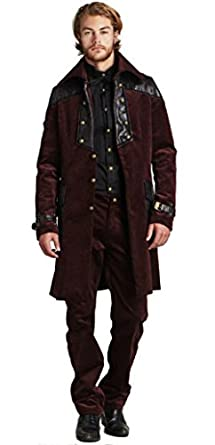 Men's Steampunk Jackets, Coats & Suits Steampunk Vintage Corduroy Jacket Coat $99.99 AT vintagedancer.com