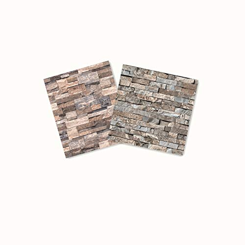 HaokHome S3302 4203 Faux Stone Brick Wallpaper Sample,8-Inch X 10-Inch