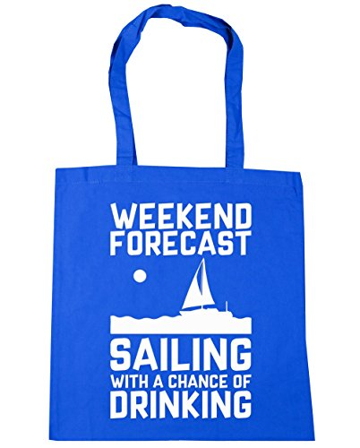 Blue litres HippoWarehouse 42cm Gym Chance of Shopping Bag With Cornflower x38cm Sailing Beach Forecast 10 Tote Weekend a Drinking raHqr4UO