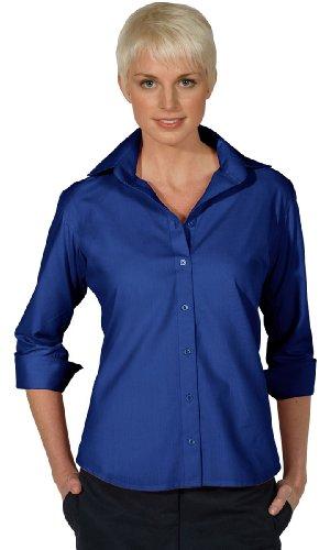 Edwards Garment Women's 3/4 Sleeve Poplin Blouse, ROYAL, Large ()