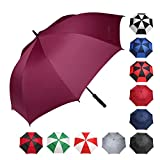BAGAIL Golf Umbrella 68/62/58 Inch Large Oversize Windproof Waterproof Automatic Open Stick Umbrellas for Men and Women (Burgundy 58 Inch)