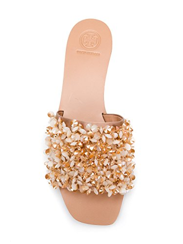 Tory Burch Women's 46249662 Beige Satin Sandals cheap real eastbay buy cheap low cost cheap sale really QYgmeiSlQg